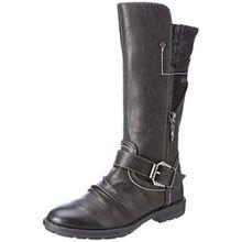 s.Oliver Mädchen 46415 Stiefel, Schwarz (Black), 34 EU