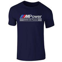 New Men's BMW M Sport M Power Race day Motor Sport T Shirt Top Tee (Medium) Navy