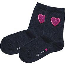 Socken Sequins , Herz dunkelblau Mädchen Kleinkinder