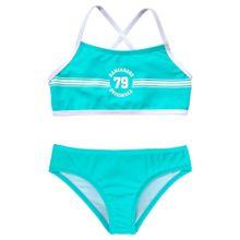 KangaROOS Bikini 'Sporty' türkis / weiß