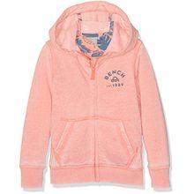 Bench Jungen Sweatshirt Bleached Hoody Sweat, Orange (Coral Quartz OR11324), 128 (Herstellergröße: 7-8)