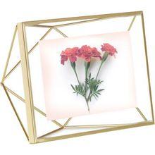 """umbra 3D Bilderrahmen """"Prisma Geometric"""" 10 x 15 cm gold  Erwachsene"""
