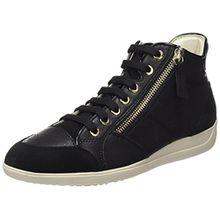 Geox Damen D Myria C Hohe Sneaker, Schwarz (Black), 42 EU