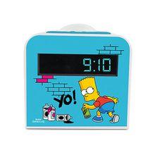 Radiowecker Bart Simpson mit Nachtlicht blau