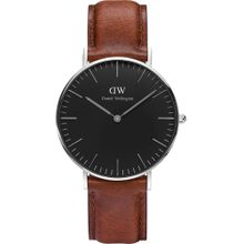 Daniel Wellington Uhr 'St Mawes' rostbraun / schwarz / silber