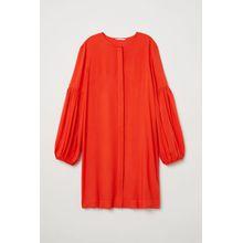 H & M - Kleid mit Ballonärmeln - Orange - Damen