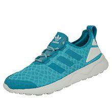 adidas Damen ZX Flux ADV Verve Sneakers, Blau (Blanch Sky/Blanch Sky/Core White), 36 2/3 EU