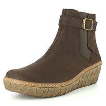El Naturalista N5133 Myth Yggdrasil Komfortabler Damen Chelsea Boot, Stiefelette, Schlupfstiefel, perfekte Passform durch Gummizug, Keilabsatz, Wedge Absatz Braun (Brown), EU 37