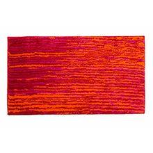 Schöner Wohnen Kollektion Mauritius, Badteppich, Badematte, Badvorleger, Design Streifen - rot, Oeko-Tex 100 zertifiziert, 60 x 60 cm