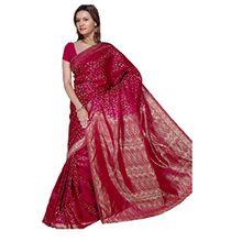 Trendofindia Indischer Bollywood Fashion Sari Stoff Damenkostüm Kleid Bordeaux CA101