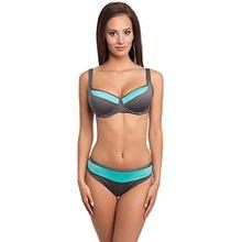 Merry Style Damen Bikini Modell: CWL 11/SV (Kaffee/Türkis, Cup 75 E / Unterteil 40)
