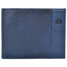 Piquadro P15Plus Geldbörse Leder 13 cm blau Herren