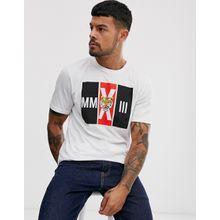Only & Sons - T-Shirt mit Tiger-Print - Weiß