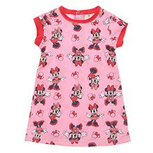Baby-Mädchen Nachthemd, Disney baby Baby-Mädchen Minnie Mouse Nachthemd Rundhals Kurzarm, Rosa, in Größe 80/86