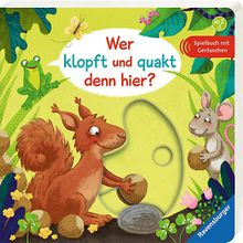 Buch - Wer klopft und quakt denn hier?, Soundbuch mit Geräuschen