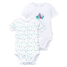 Schiesser Baby-Mädchen Body Multipack 2pack Bodies 1/2, 2er Pack, Mehrfarbig (Sortiert 901), 86