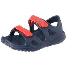 crocs Unisex-Kinder Swiftwater River Sandal, Blau (Navy/Flame 4ba), 34/35 EU