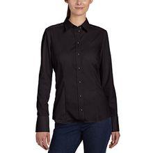 Seidensticker Damen Hemdbluse comfort fit/regular fit Langarm bügelfrei, Schwarz (39), 36 (Herstellergröße: 10)