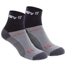 Inov-8 - Speed Sock Mid - Laufsocken Gr L;M;S grau/weiß;grau/schwarz