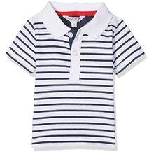 Kanz Baby-Jungen Poloshirt Polohemd 1/4 Arm, Mehrfarbig (Y/D Stripe 0001), 74