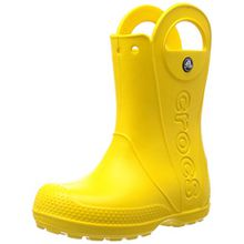 crocs Handle It Rain Boot, Unisex - Kinder Gummistiefel, Gelb (Yellow), 32/33 EU