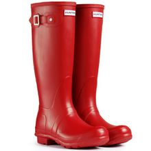 Hunter Original Tall Damen Fest Gummistiefel Wellington Boots - Rot - 38