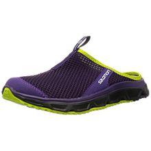 Salomon Damen RX Slide 3.0 Clogs, Violett (Cosmic Purple/Black/Gecko Green), 40 EU