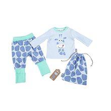 Sigikid Baby-Mädchen Zweiteiliger Schlafanzug Pyjama, Blau (Halogen Blue 734), 80