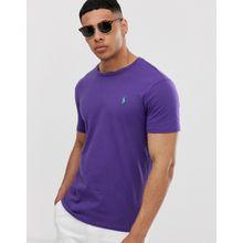 Polo Ralph Lauren - T-Shirt mit Polospielerlogo in Violett - Violett
