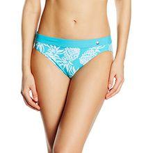 ESPRIT Bodywear Damen Slip Bikinihose TAMPA BEACH, All over print, Gr. 38, Blau (TURQUOISE 470)