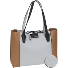 Guess Handtasche Bobbi Inside Out Tote White/Cognac (innen: Weiß, Lachsfarben)