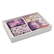 Lego Wear Mädchen Unterwäsche-Set Lego Girl Friends Nachtwäsche Geschenk-Box, Violett (Dark Purple 696), 116