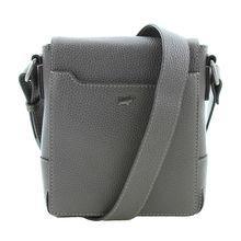 Braun Büffel Schultertasche PORTO mit langem Überschlag Handtaschen grau Herren