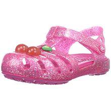 crocs Mädchen 204529 Clogs, Pink (Vibrant Pink), 20/21 EU