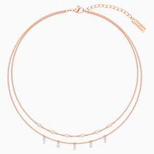 Penélope Cruz Moonsun Double Halskette, weiss, Rosé vergoldet