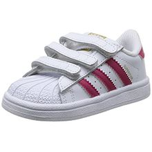 adidas Originals Superstar Foundation CF C, Unisex-Kinder Sneakers, Weiß (FTWR White/Bold Pink/FTWR White), 32 EU (13.5 Kinder UK)
