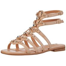 Buffalo Shoes Damen 15BU0230 Leather PU Römersandalen, Beige (Nude 01), 36 EU