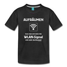 Spreadshirt Pubertät Aufräumen WLAN RAHMENLOS® Teenager Premium T-Shirt, 158/164 (12 Jahre), Schwarz