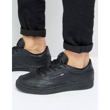 Reebok – Club C – Schwarze Sneaker aus Leder, AR0454
