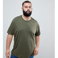 Polo Ralph Lauren – Big & Tall – Olivgrünes T-Shirt mit Polospieler-Logo