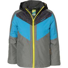 ZIENER Skijacke neonblau / grau