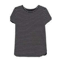 Boxy Stripe Shirt Black