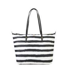 Lauren Ralph Lauren Shopper 'KEATON 31-TOTE-MEDIUM' schwarz / weiß