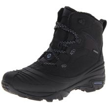 Merrell SNOWBOUND MID WTPF J55624, Damen Snowboots, Schwarz (BLACK), EU 42 (UK 8) (US 10.5)