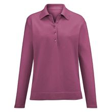 Polo-Pullover aus 100% Kaschmir Modell Paula Peter Hahn Cashmere rosé