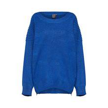 ICHI Pullover HUBBLE LS Pullover blau Damen