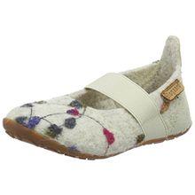 Bisgaard Mädchen Wool Ballet Slipper, Weiß (171 Creme-Flowers), 24 EU