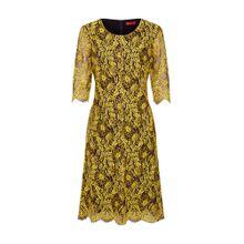 HUGO Kleid 'Kirelia-1' gelb / schwarz