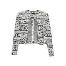 s Oliver Shirt Blazer Cardigan Jacke Umhang Damen Langarm, Farbe:cremeweiß;Damengrößen:44