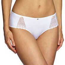 Sassa Damen Panties Panty  36089, Einfarbig, Gr. 46, Weiß (Weiß 00100)